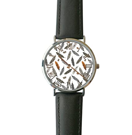 0df3a24bd0f9 ERT8OII Reloj de Plumas Personalizado Números Romanos Reloj de Cuarzo  Ordinario
