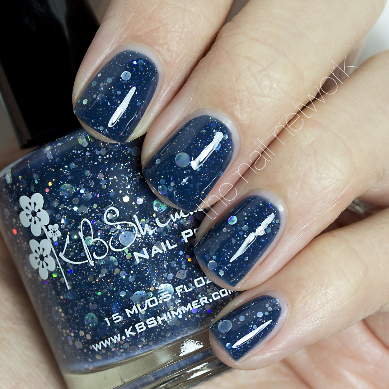 Amazon.com : Will Yule Marry Me? Navy Glitter Nail Polish- 0.5 oz ...