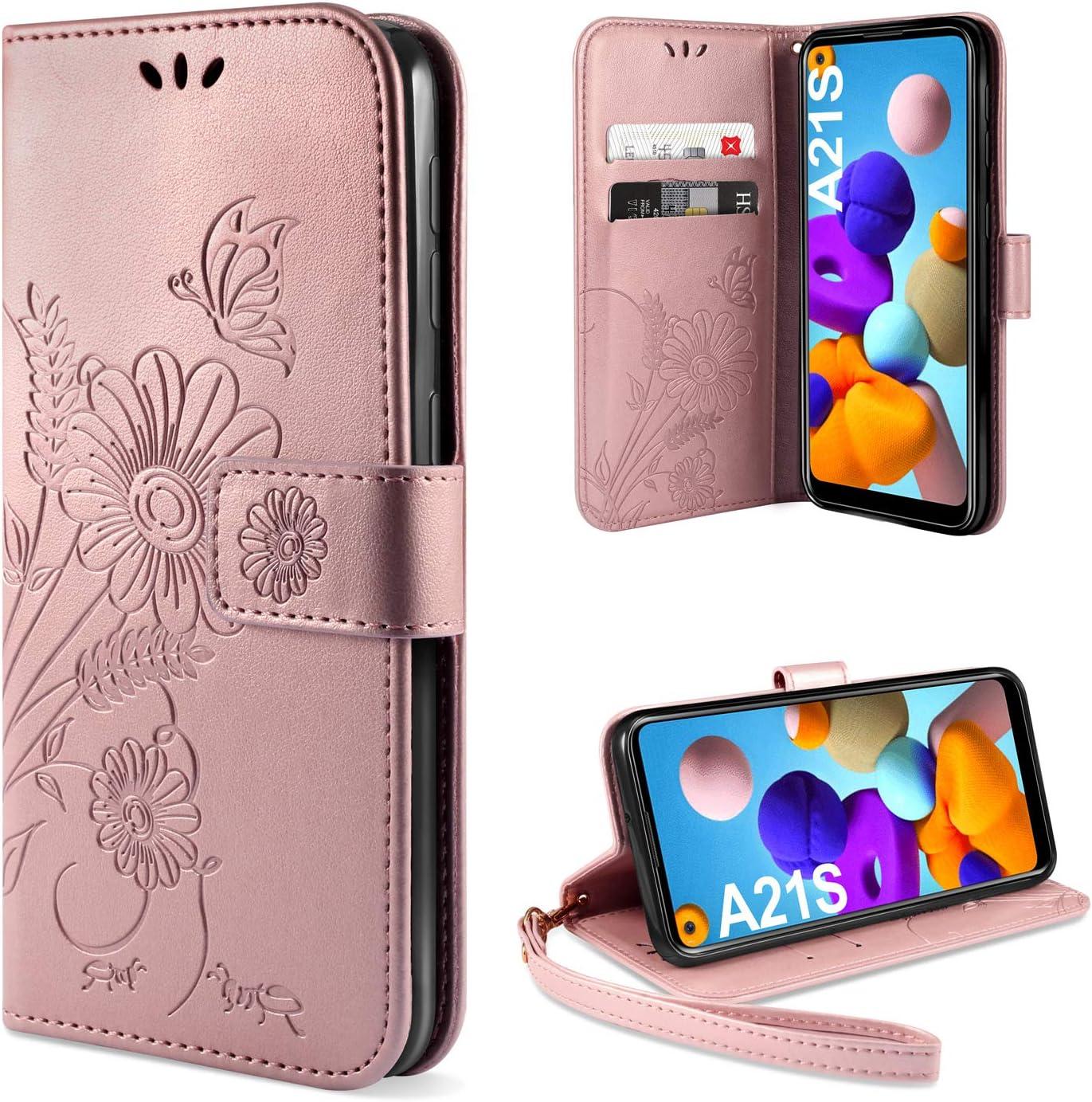 DUX DUCIS Coque pour Samsung Galaxy A21s Noir Housse en Cuir avec Magnetique Premium Flip Compatible pour Samsung Galaxy A21s