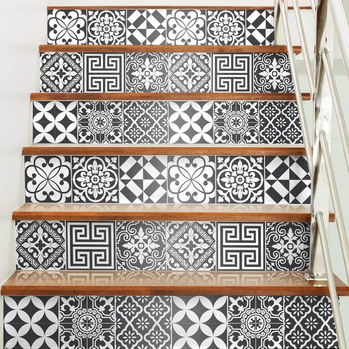 15 x 15 cm 60 pi/èces Stickers adh/ésifs carrelages muraux azulejos