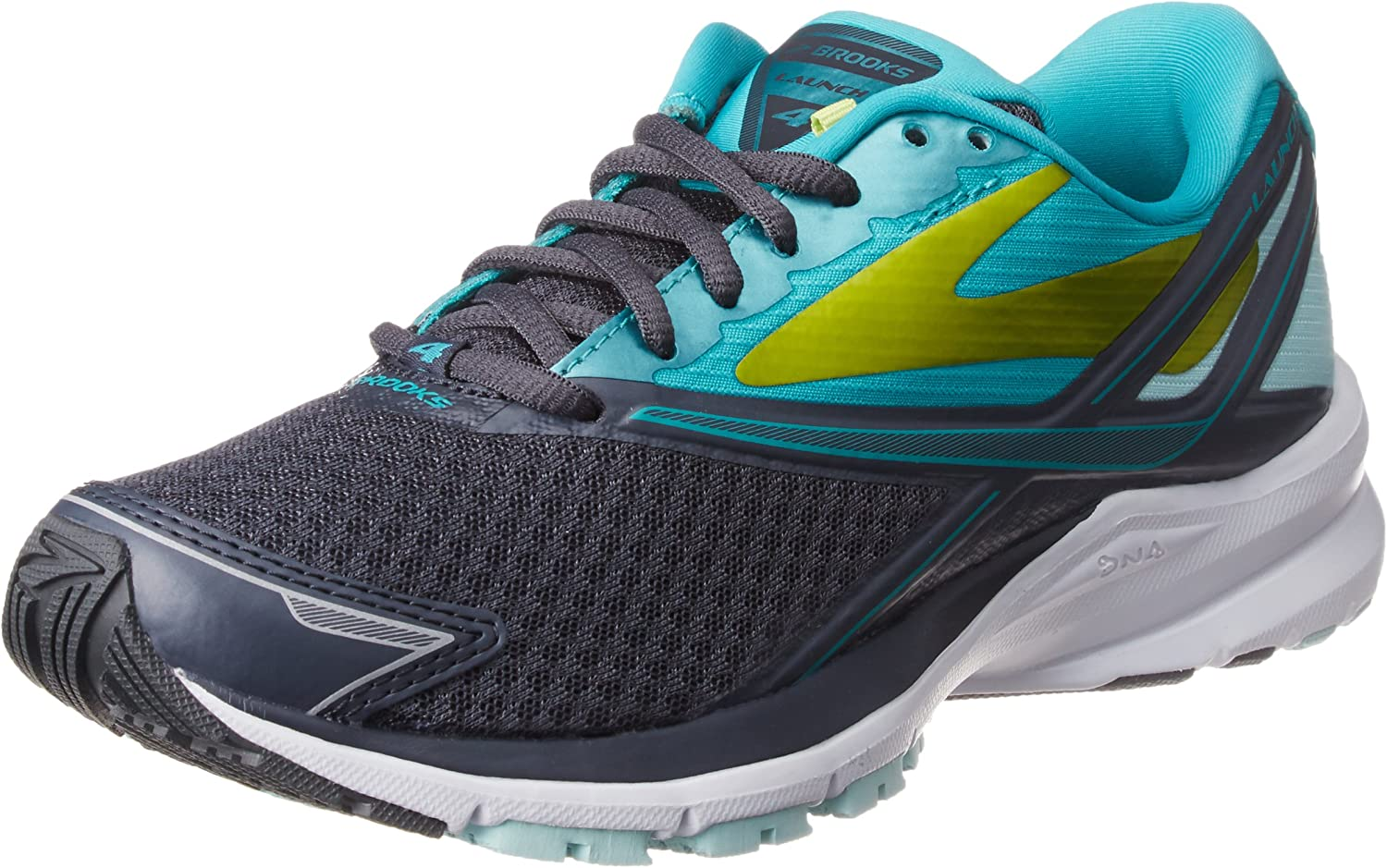 Brooks Women s Launch 4 Anthracite Ceramic Lime Punch