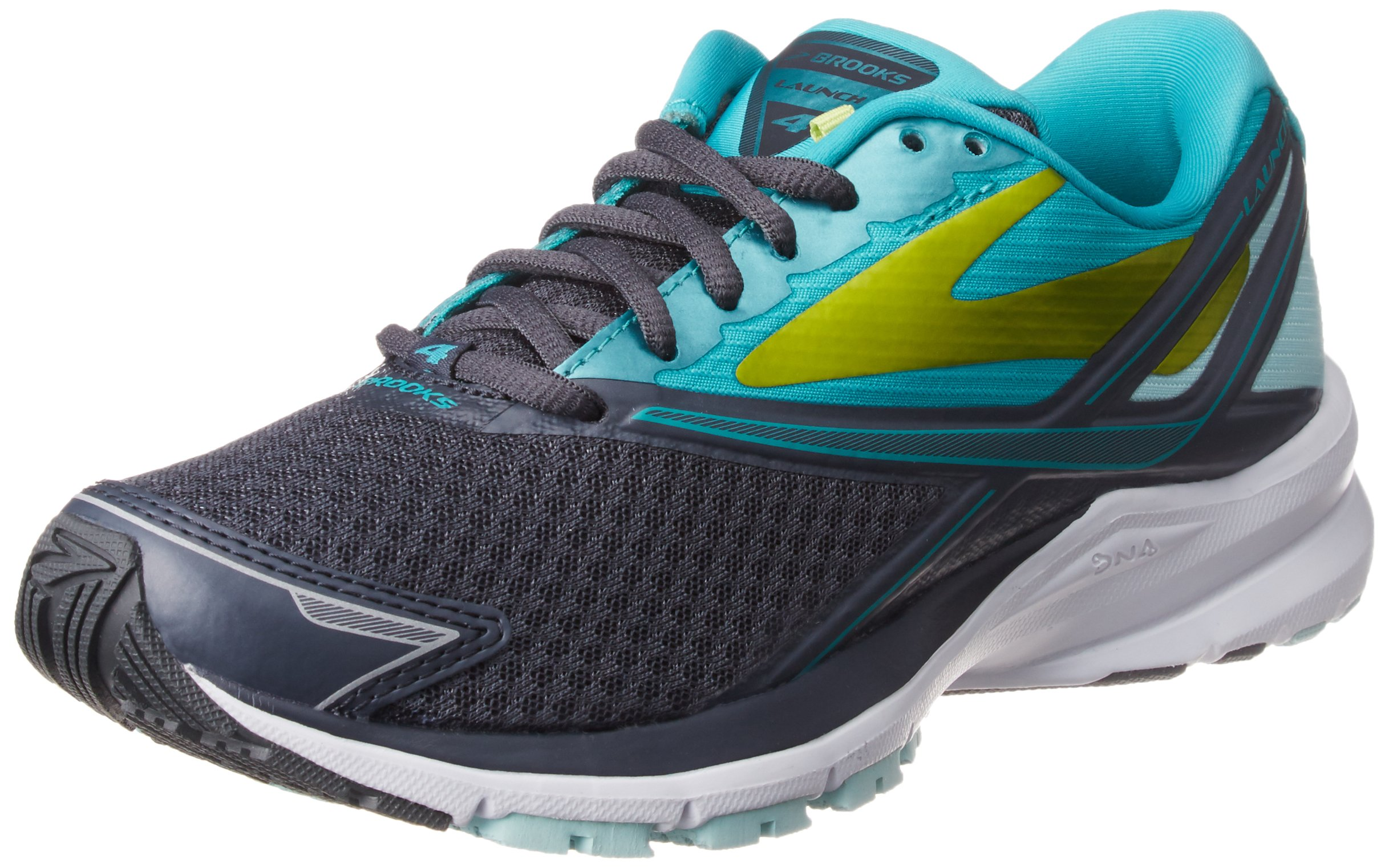 Brooks Womens Launch 4 Running Sneaker Shoe, Anthracite/Ceramic/Lime Punch, 7 by Brooks