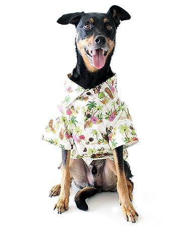 Dog ThreadsTM Birthday Shirt By Hula Dancers BBQ Hawaiian Print Party