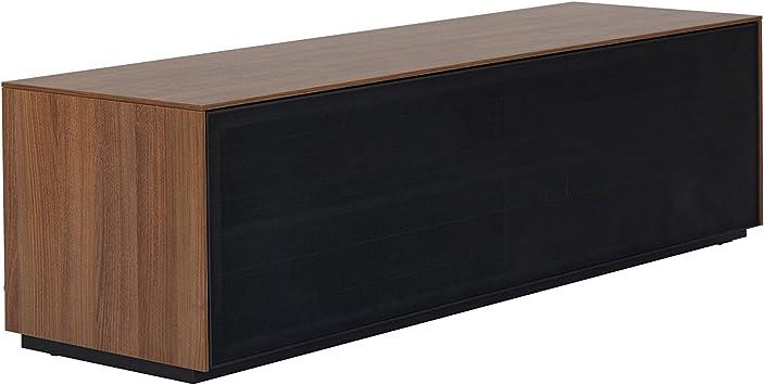 Outline 1500 - Mueble de TV con Soporte AV, Puerta de Malla de Aluminio Perforada, Barras de Sonido, diseño británico Nogal Natural: Amazon.es: Electrónica
