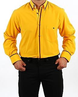 9a2ebd539d10 Besonderes Hemd in eigelb, für Herren Beste QUALITÄT, HK Mandel Excellent  Hemd Langarm Normal