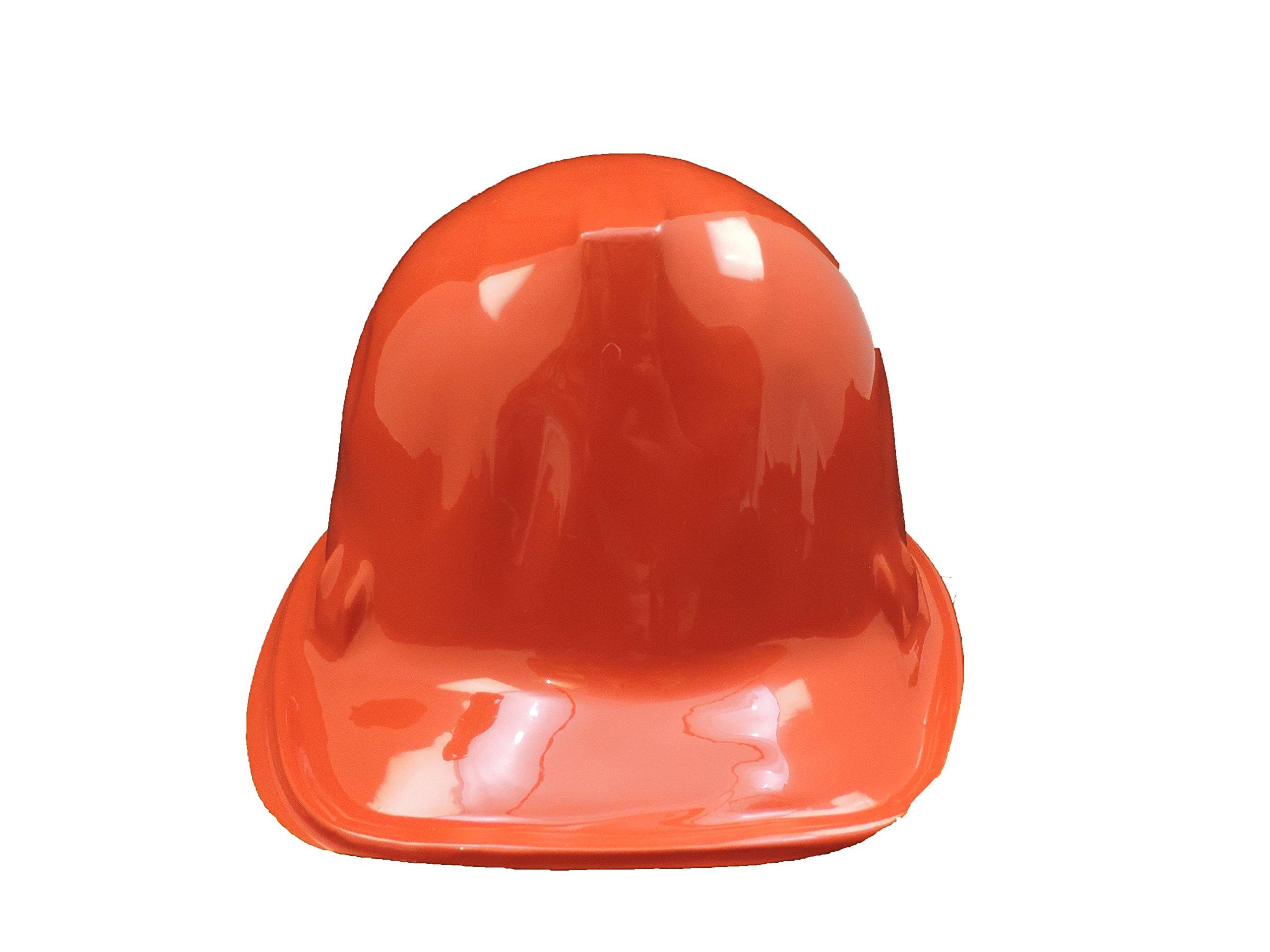 ORANGE Kid's Plastic Miner Construction Hard Hats Set Of 12