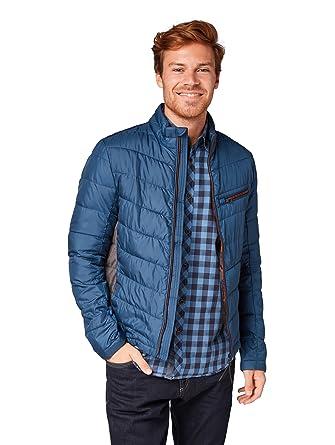 ef95407140ab19 TOM TAILOR für Männer Jacken   Jackets Leichte Steppjacke Dark Denim Blue