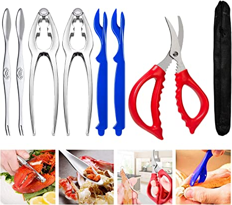 Crab Leg Crackers and Tools Shellfish Nut Cracker for Nut Stainless Steel Seaf