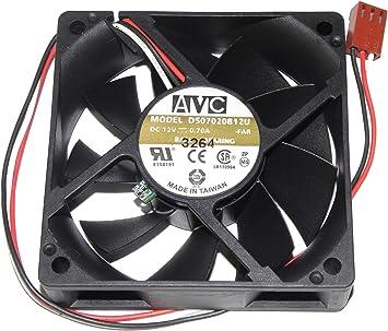 Zyvpee DS07020B12U - Ventilador de CPU (70 x 70 x 20 mm, 12 V ...