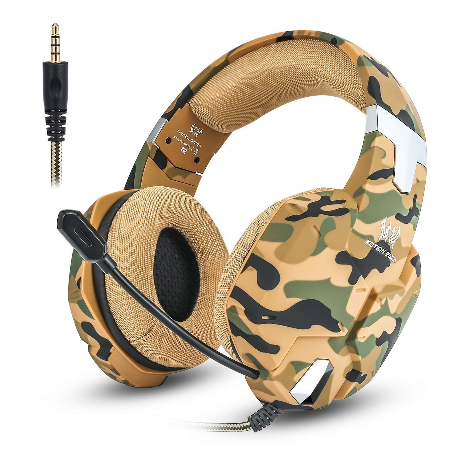 JEECOO Stereo Gaming Headphones Over-Ear Headset with Mic Soft Earmuff Compatible with Xbox One Playstation 4 PC Laptop Tablet PC G1500