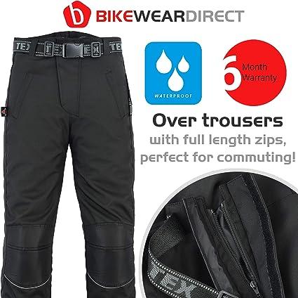 Long Noir Fermeture /Éclair sur Toute la Longueur Surpantalon de Moto imperm/éable W32