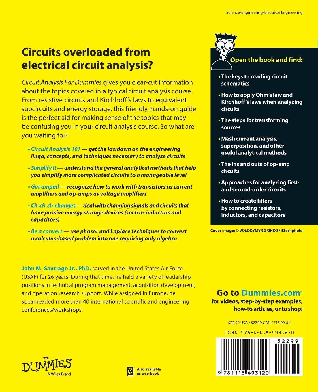 Circuit Analysis For Dummies John Santiago 9781118493120 Books Arcweldinginverter Othercircuit Basiccircuit Diagram