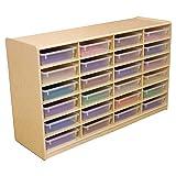 "Wood Designs (24) 3"" Letter Tray Storage Unit"