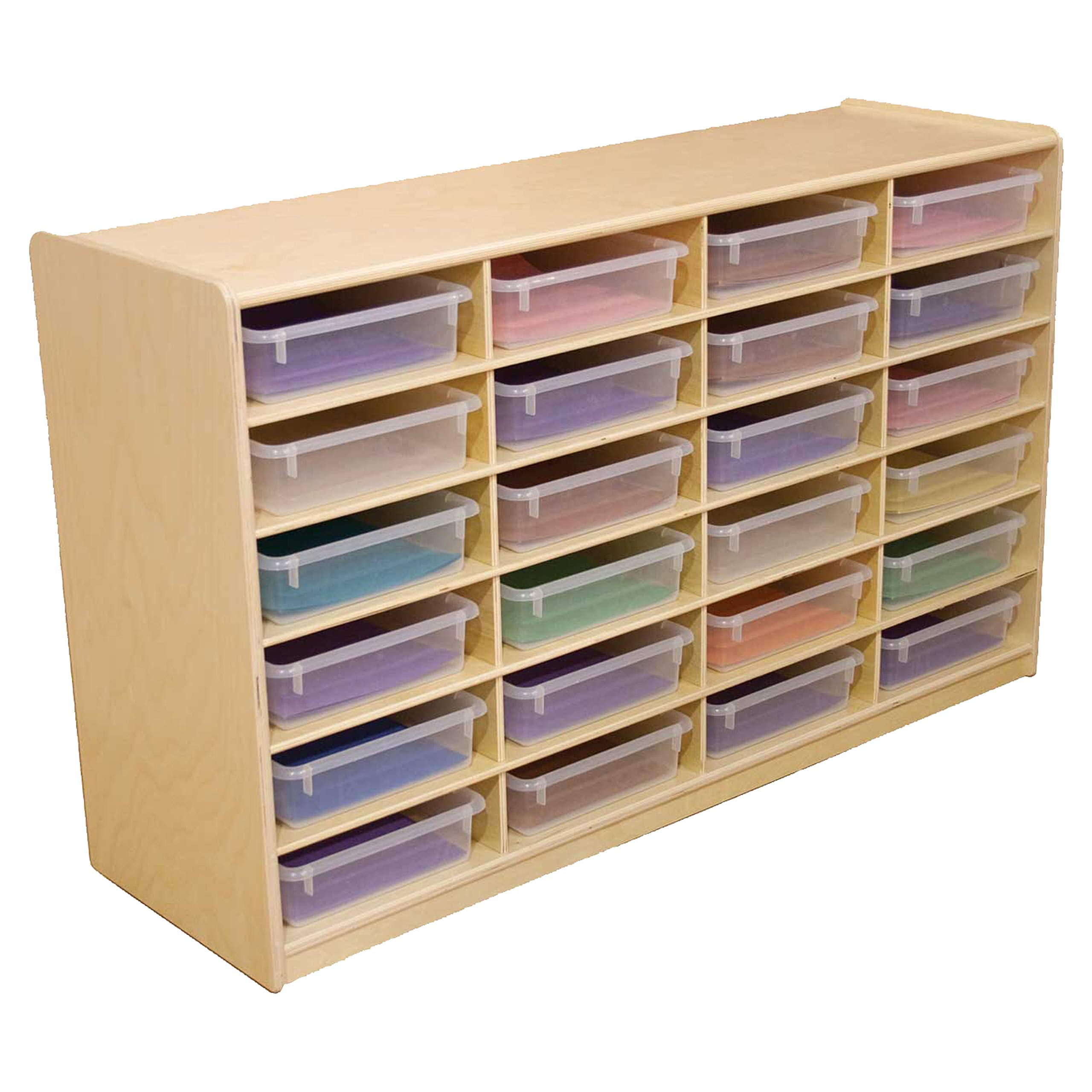 Wood Designs (24) 3'' Letter Tray Storage Unit with Translucent Trays by Wood Designs