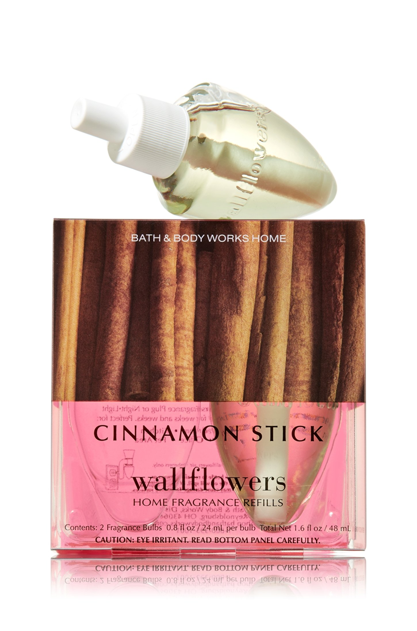 Bath and Body Works Cinnamon Stick Wallflowers 2-Pack Home Fragrance Refills, 1.6 Ounce Total