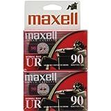 MAXELL UR-90 Blank Audio Cassette Tape (2 pack)