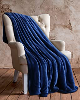 AmazonBasics - Manta de felpa suave - 127 x 152 cm - azul ...