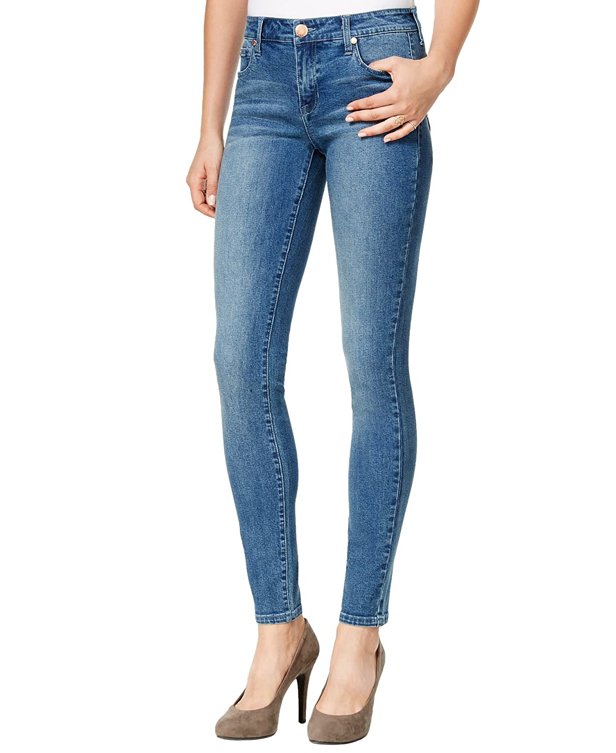 Celebrity Pink Body Love Juniors' The Lifter Skinny Jeans, Light Wash