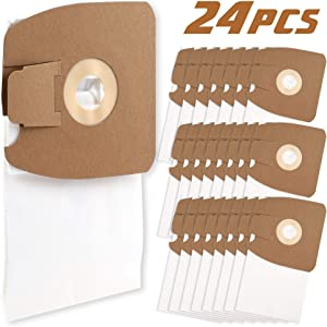 LotFancy 24 PCS Vacuum Bags for Eureka MM Style Eureka Mighty Mite 3670 and 3680 Series, 60295A, 60295B 60297A 60295C 60296C