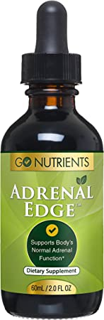 Adrenal Edge - Adrenal Support Supplement & Cortisol Manager - Fatigue Fighting Adaptogens Help Manage Stress and Increase Energy - 2 oz