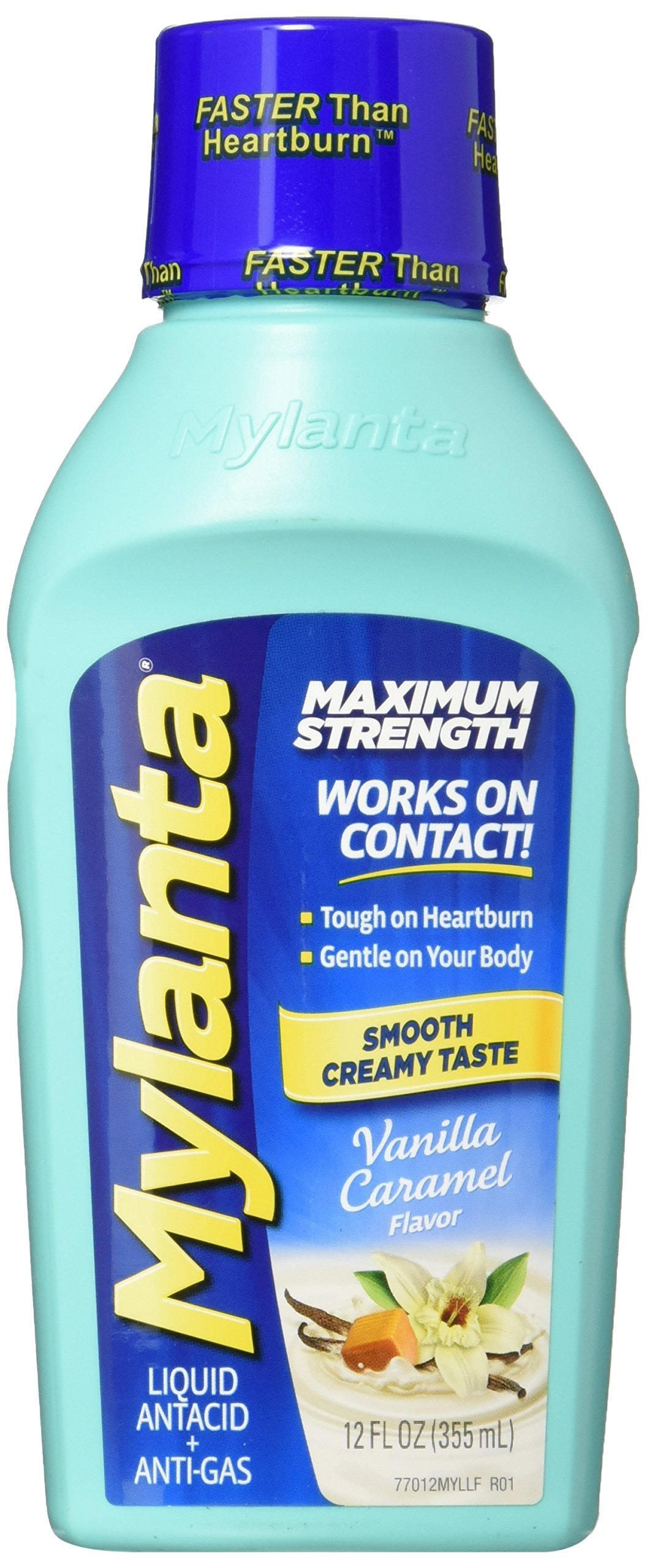 Amazon.com: Mylanta Antacid and Gas Relief, Maximum Strength Formula, Vanilla Flavor, 12 Fluid Ounce: Health & Personal Care
