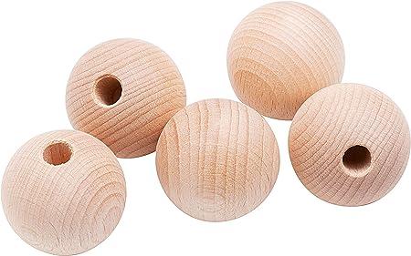 sfere in legno pittura di Natale HEALLILY 100 sfere divise in legno mezze finiture giallo 20mm 100pcs 20 mm per bricolage mini emisfero di Natale artigianale