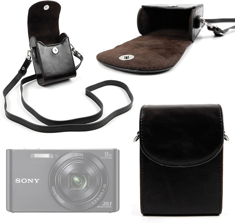 DURAGADGET Bolso De Piel/Estuche para Cámara Sony DSC-W830: Amazon.es: Electrónica