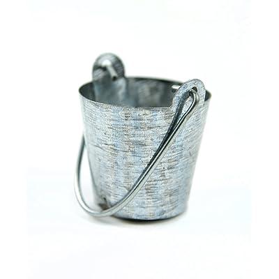 Touch of Nature Mini Fairy Garden Bucket, 1-Inch, Grey: Garden & Outdoor