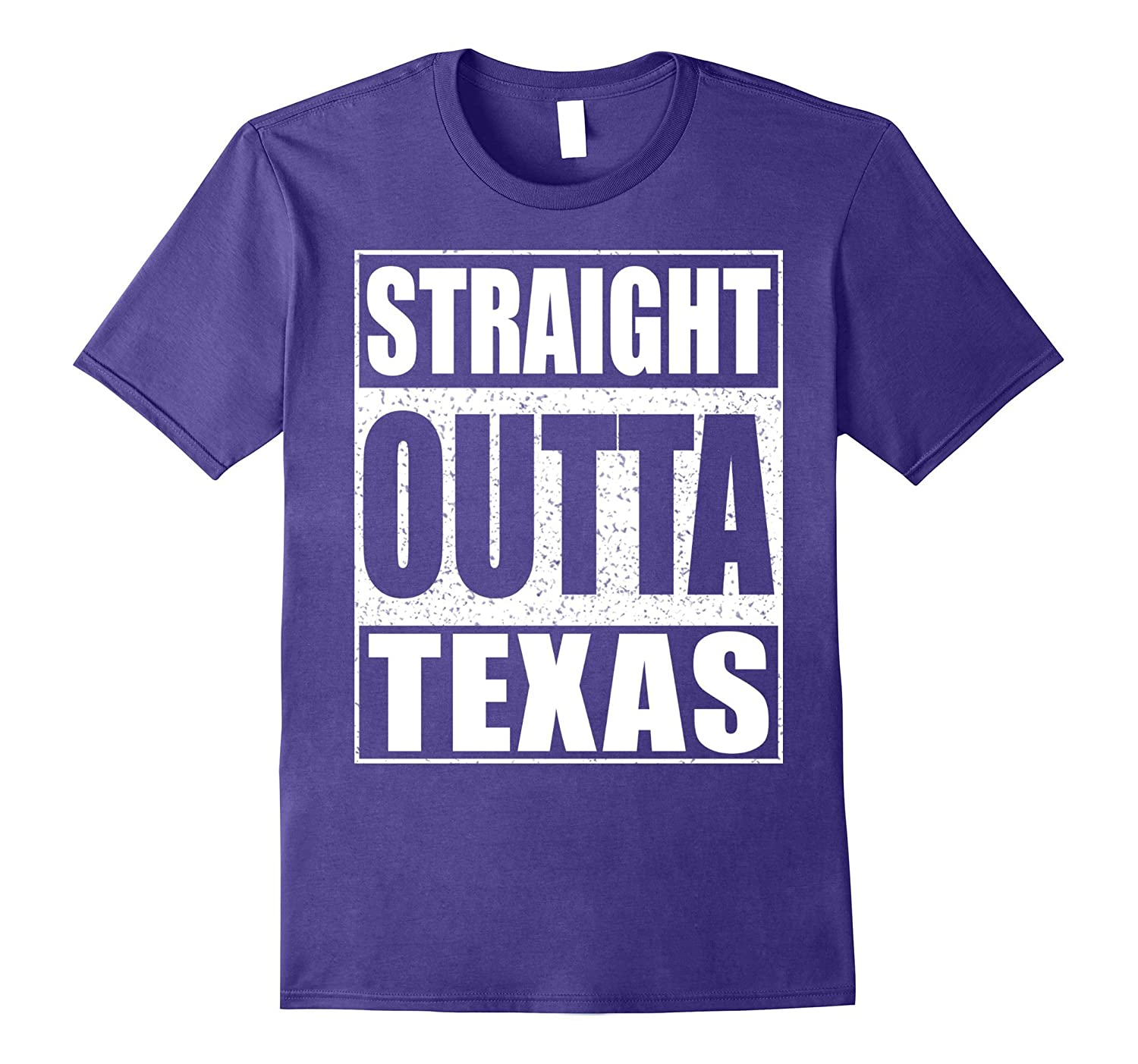 Straight Outta Texas T-Shirt Patriotic Texas State-FL
