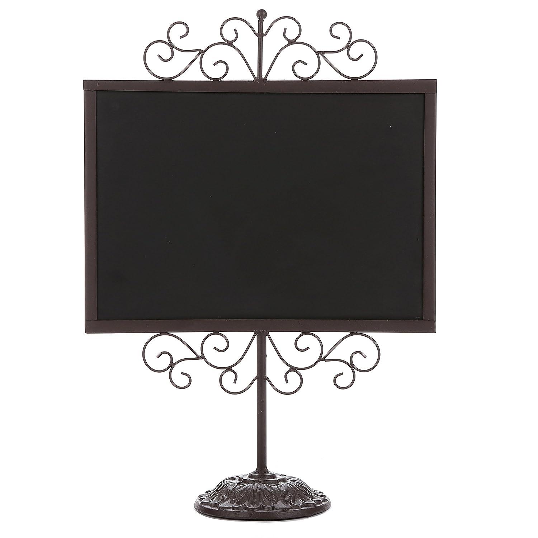 Stylish Vintage Brown Metal Frame Semi-Permanent Chalkboard Display Sign Stand
