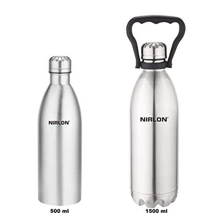 ec19bfbe6c7 Buy Nirlon Stainless Steel Water Bottle Set