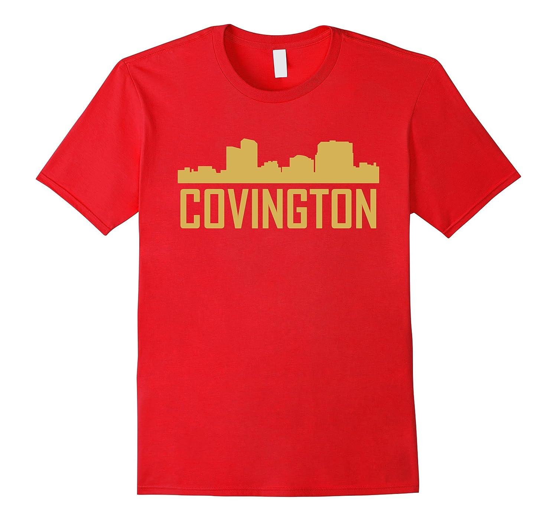 Covington Kentucky Skyline Silhouette T-Shirt-RT