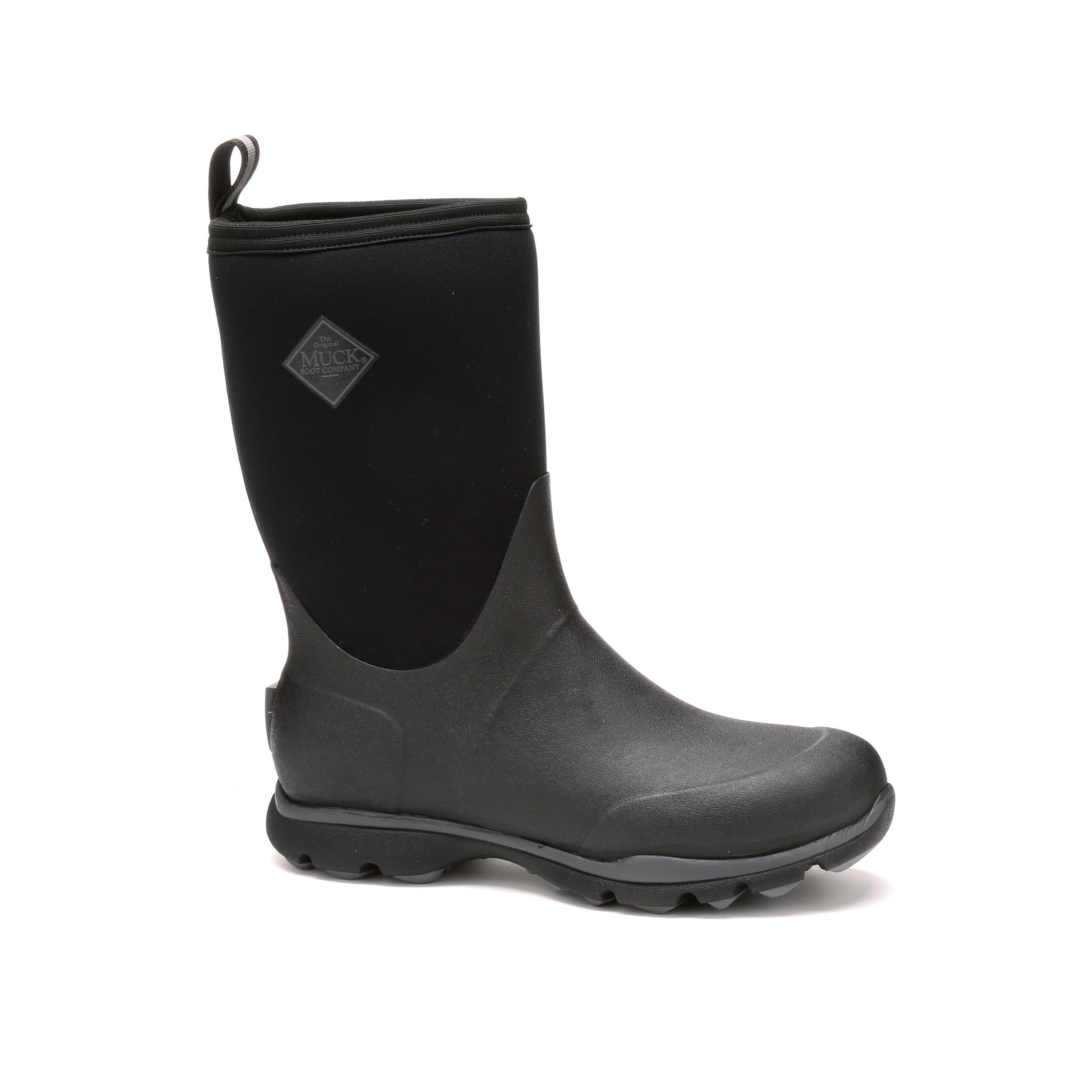 Muck Boot Men's Arctic Excursion Mid Snow Boot, Black/Gray, 9 M US