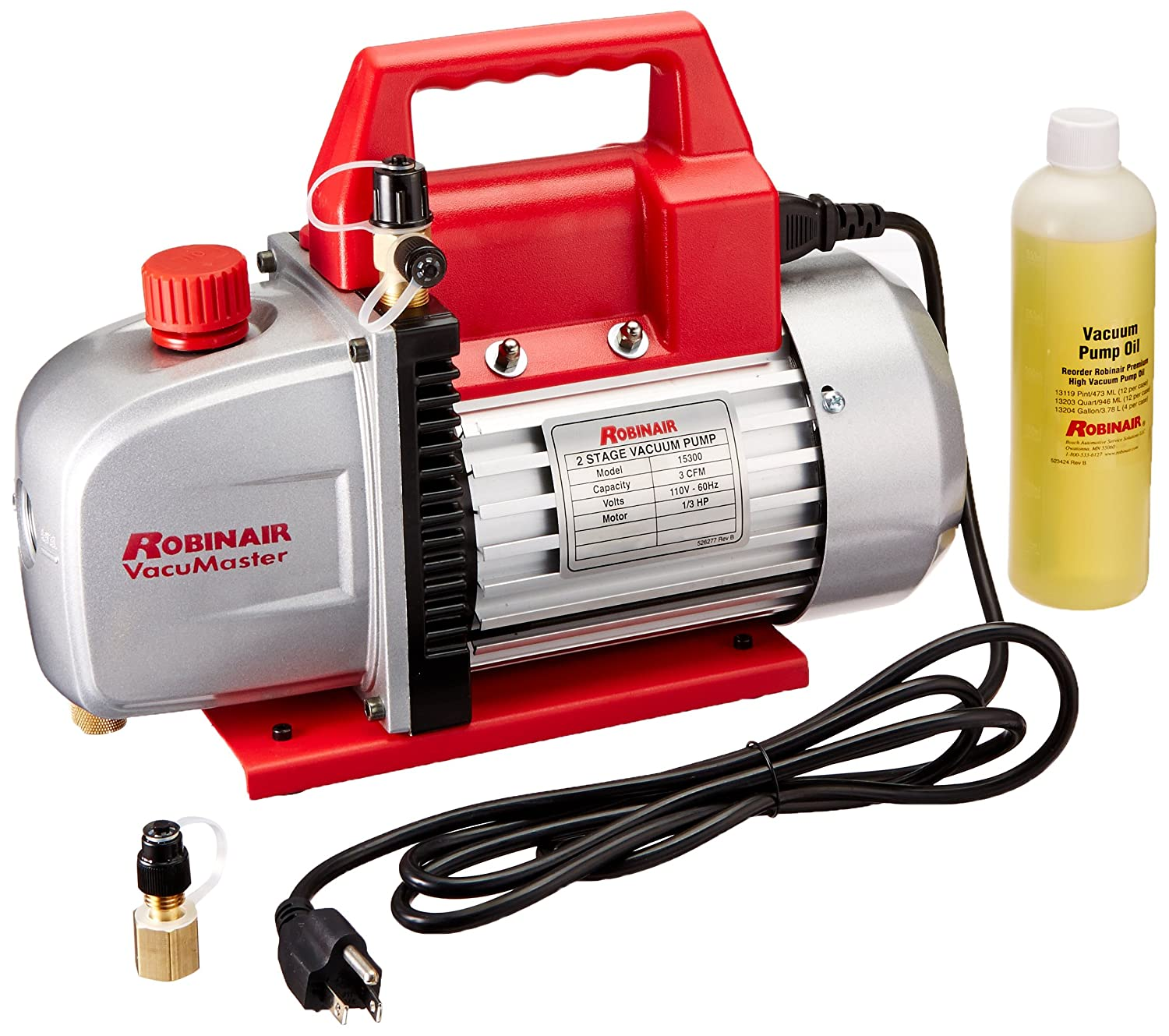 81Z%2BZYwXrdL._SL1500_ amazon com robinair (15300) vacumaster economy vacuum pump 2 Robinair 15500 Parts Breakdown at n-0.co