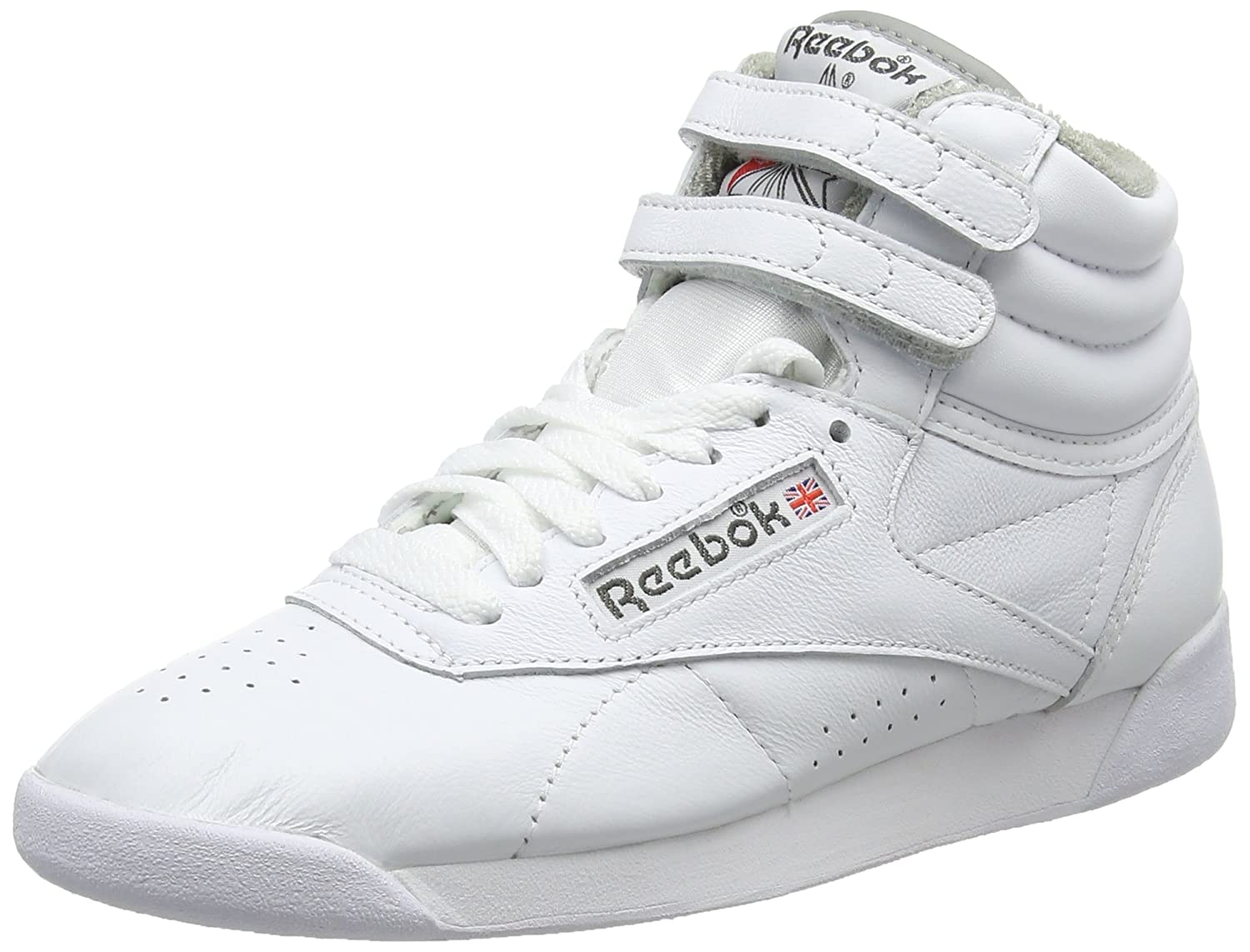 Amazon.com | Reebok Womens F/S Hi-Top Trainers, Multicolour (White/Carbon/Red/Grey White/Carbon/Red/Grey), 6 UK 38.5 EU | Fashion Sneakers