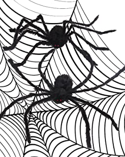 halloween decoration spider 2 pieces 50 inch black huge spider used for halloween or parties