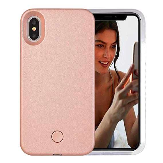 size 40 e1061 25214 iPhone Xs Max Case, AUYOUWEI LED Illuminated Selfie Light Case Cover  [Rechargeable] Light Up Luminous Selfie Flashlight Cell Phone Case for  iPhone Xs ...