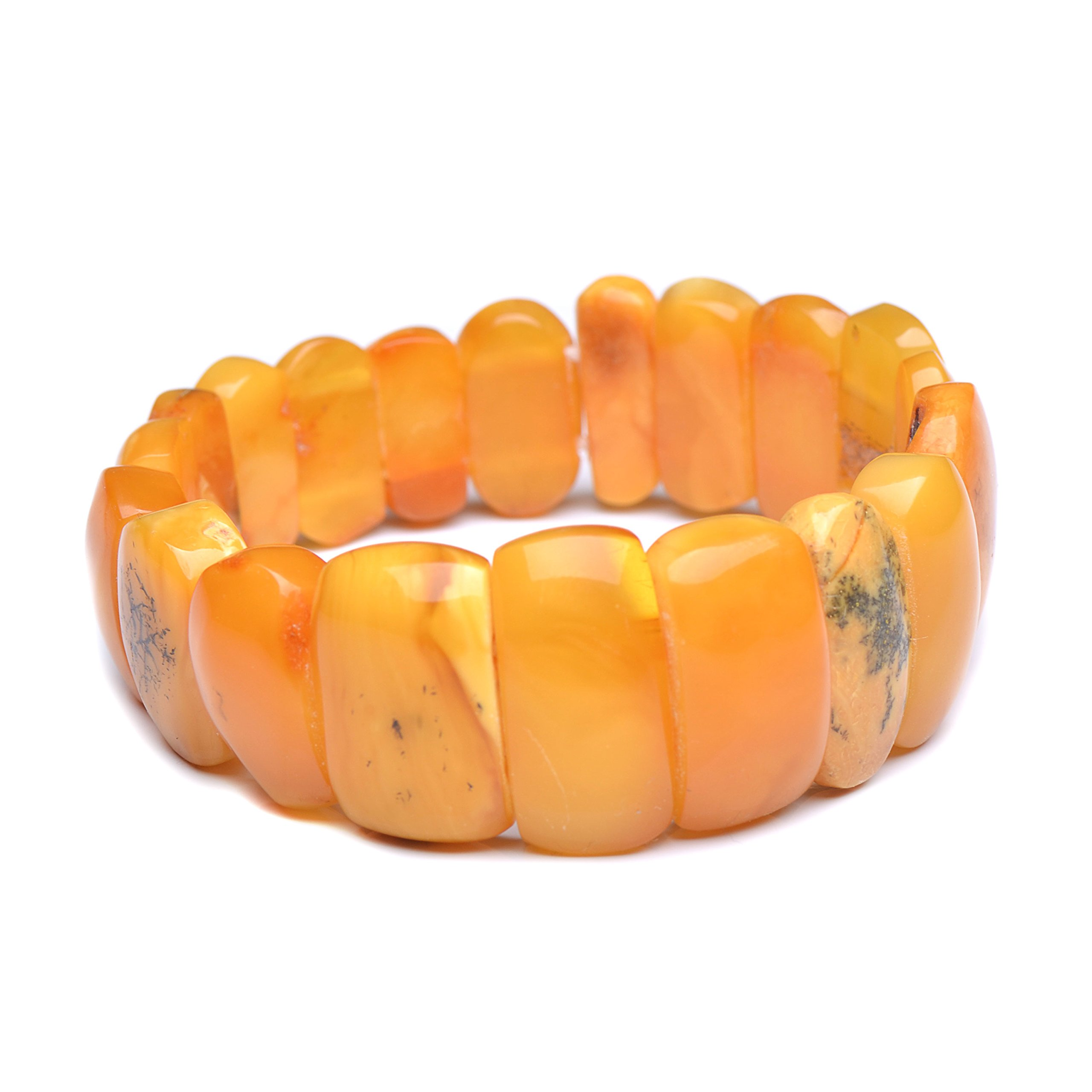 Vintage Amber Bracelet - Unique Amber Bracelet - Certified Handmade Amber Bracelet - Genuine Amber Bracelet (7.5 inches, Green) (6.7 inches, Butterscotch) by Genuine Amber