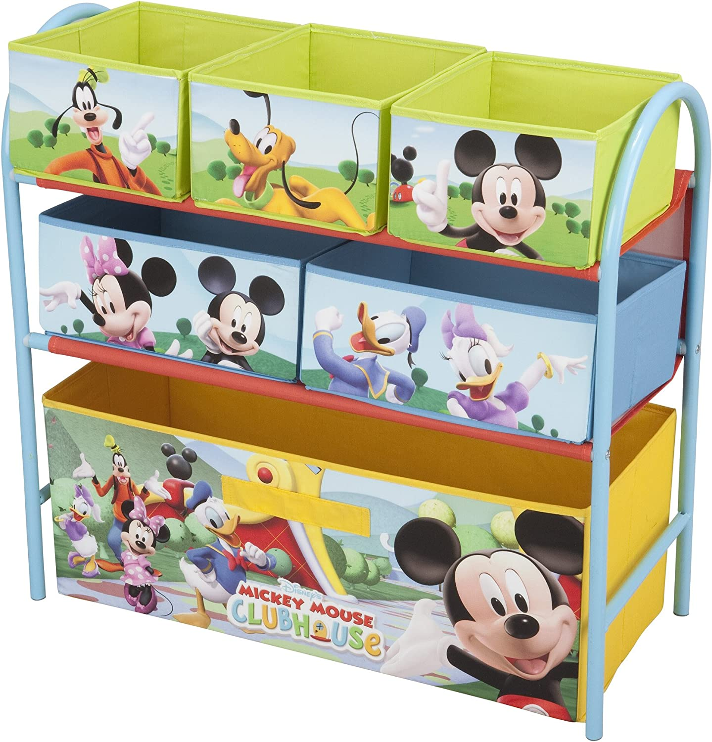 Delta Children Mickey Mouse Meuble De Rangements Chassis Metal Amazon Fr Bebes Puericulture