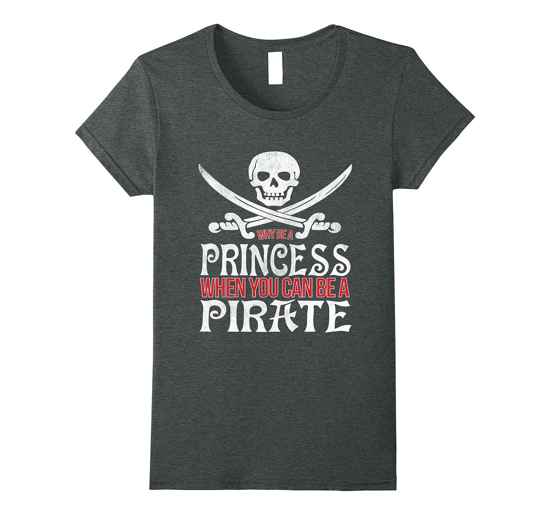 Princess Pirate Girls T Shirt Asphalt-Teevkd