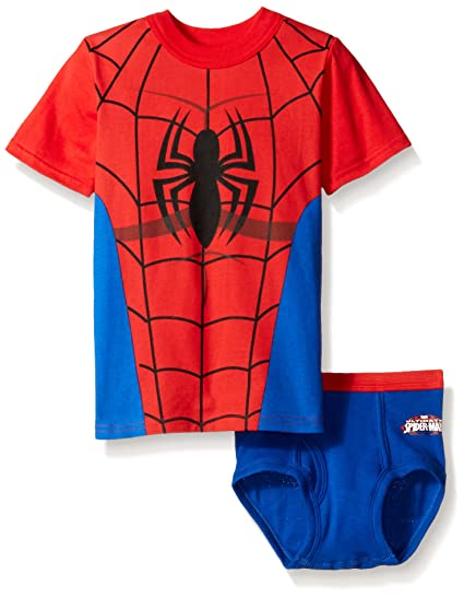 781c4b9cf Amazon.com: Marvel Toddler Boys' Spiderman Underwear and T-Shirt Set ...