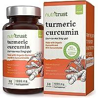 Capsule curcuma 1000mg curcuma di Nutritrust®- Curcumina organica e Curcuminoidi al 95% con Black Pepper Bioperine - 100% puro per risultati ottimali - Facile da assumere Vegan Friendly Supplemento