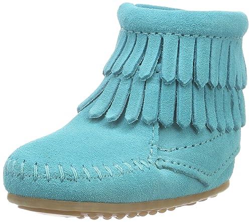 Minnetonka Double Fringe Bootie, Mocasines para Bebés: Amazon.es: Zapatos y complementos
