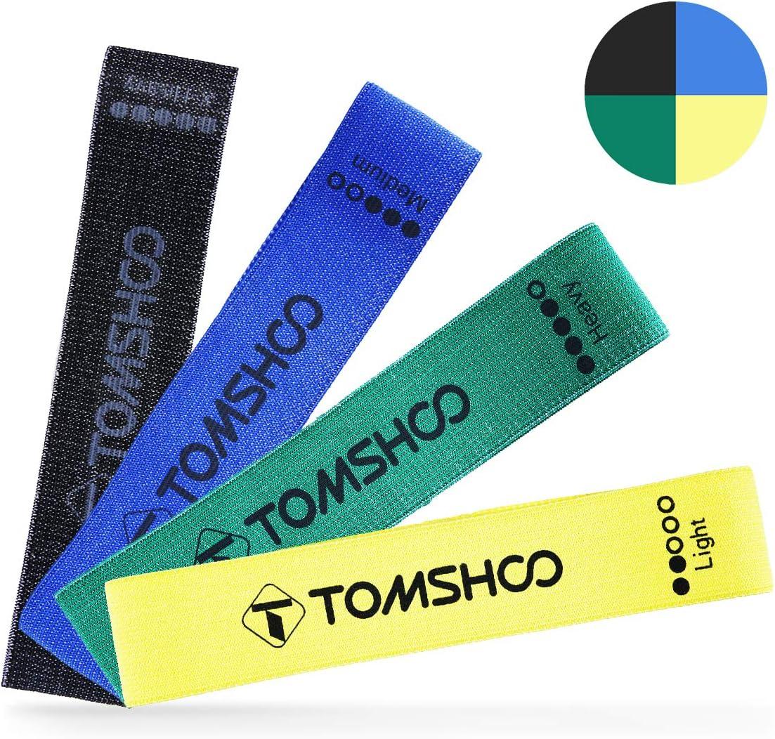 TOMSHOO Fitnessb/änder Widerstandsb/änder,Trainings-B/änder in 4 verschiedenen Widerstandsst/ärken Ideal fr Muskelaufbau Physiotherapie Pilates Yoga Gymnastik und Crossfit