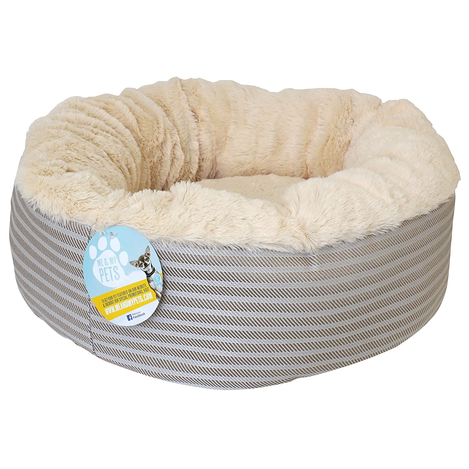 Me & My Super Soft Doughnut Pet Bed For Cats Puppies & Small Dogs:  Amazon: Pet Supplies