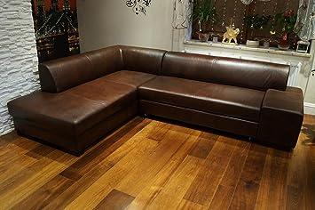 Ecksofa London Ii 275 X 200 Dunkelbraun Echtleder Sofa Couch Mit