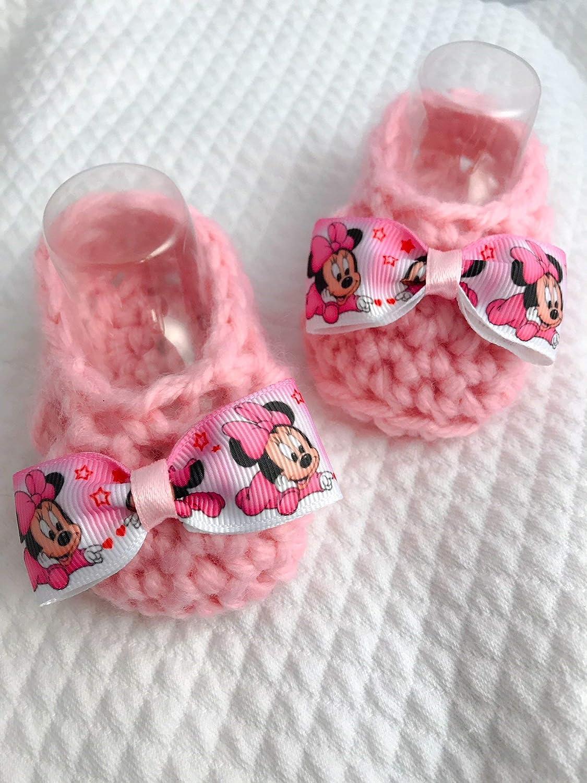 Zapatos de bebé | botas recién nacidas minnie disney | idea de ...