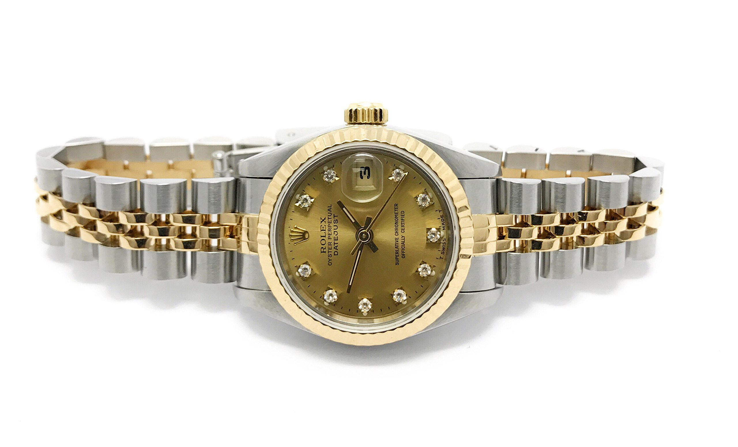 Rolex Datejust swiss-automatic womens Watch 69173 (Certified Pre-owned) by Rolex (Image #3)