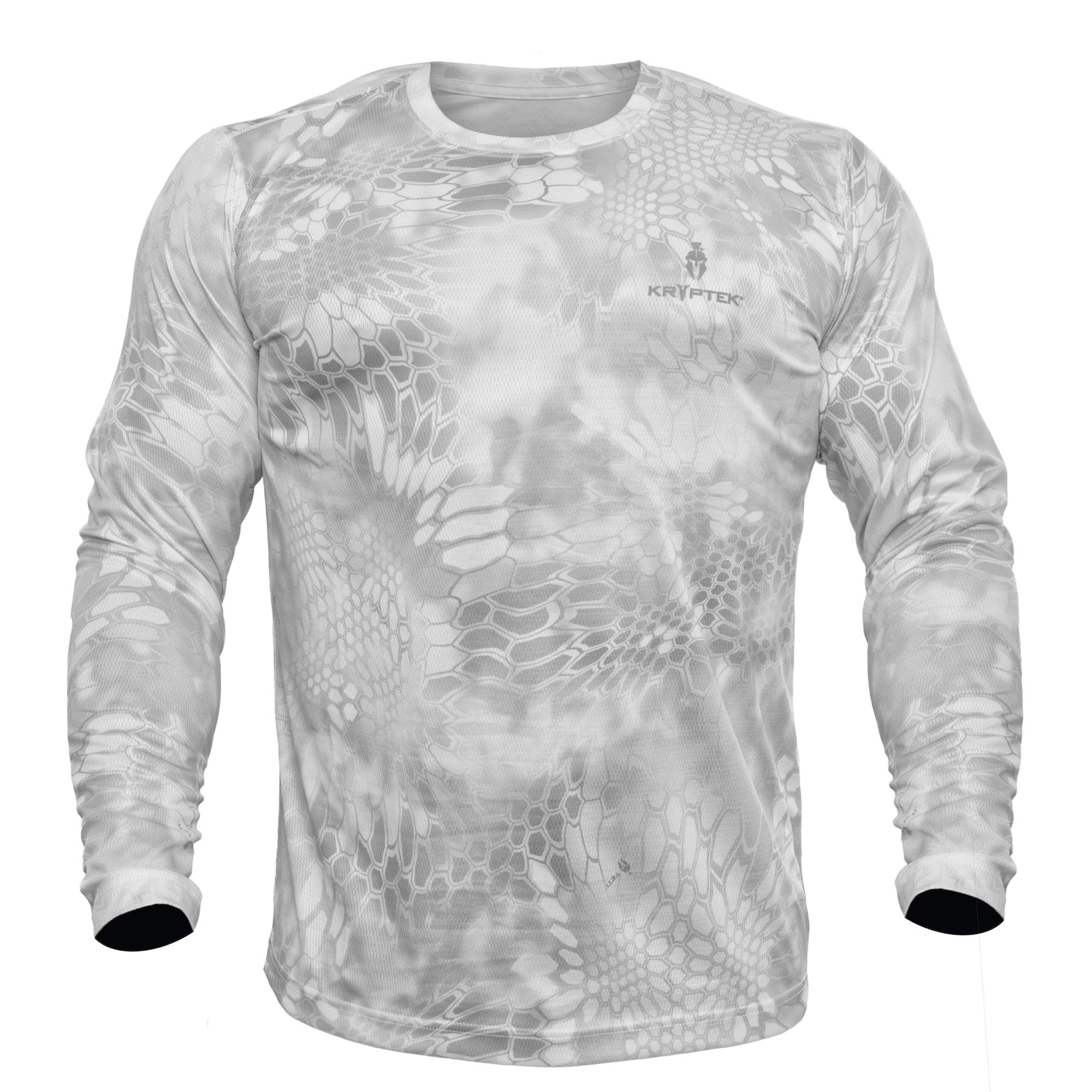 Kryptek Hyperion LS Crew - Long Sleeve Camo Hunting & Fishing Shirt (K-Ore Collection), Wraith, 2XL by Kryptek