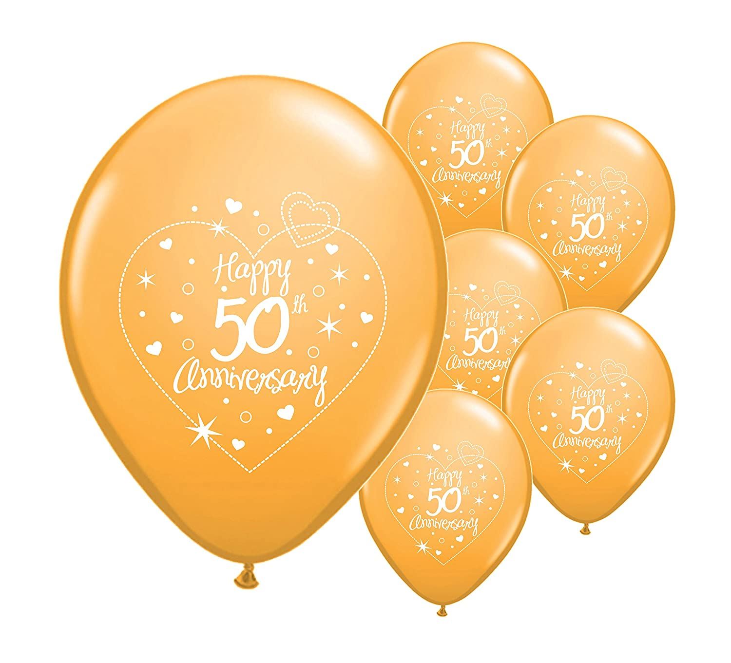 10 x 50th golden wedding anniversary helium quality 12 balloons pa amazoncouk toys games